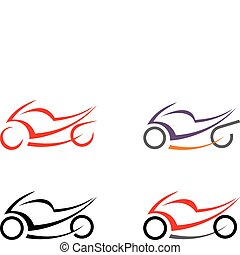 Motorbike, motorcycle - vector imag - Motorcycle on white...