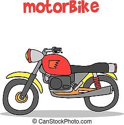 Motorbike of vector art illustration