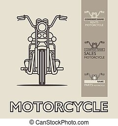 Motorbike poster illustration vector