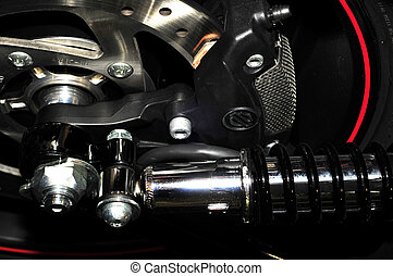 Motorbike rear suspension - Rear suspension assembly of...