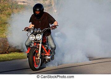 Motorbike Rider Burnout