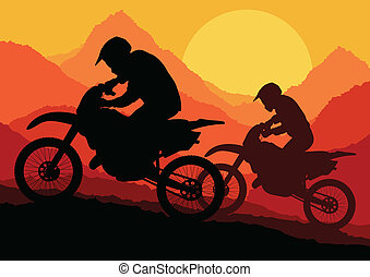 Motorbike rider motorcycle silhouette vector