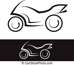 motorbike symbol black and white  element
