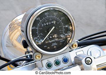 Motorbike tachymeter