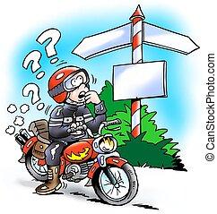 motorbiker, encrucijada