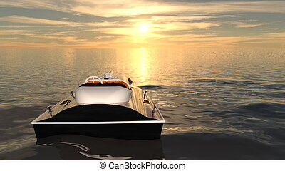 Motorboat - Image of a motorboat.