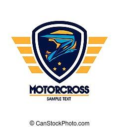motorcross, ロゴ, 紋章