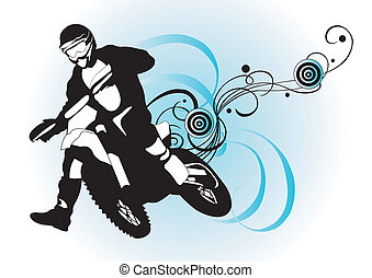Motorcross - Illustration of a motorcross rider