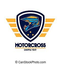 Motorcross logo emblem