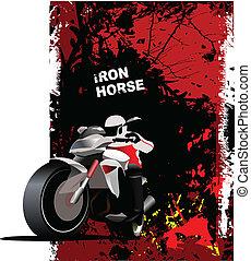 motorcycl, fond, naturel