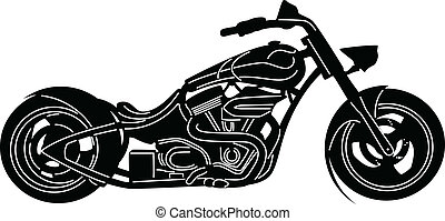Motorcycle-01 - illustration of great Detailed Motorcycle...