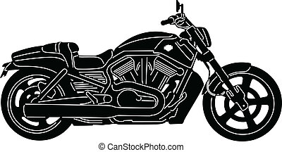 Motorcycle-02 - illustration of great Detailed Motorcycle...