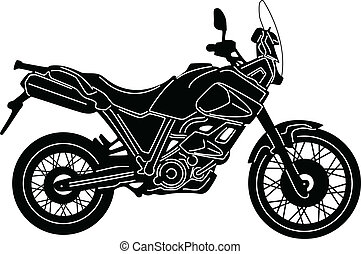 Motorcycle-03 - illustration of great Detailed Motorcycle...