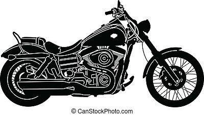 Motorcycle-08 - illustration of great Detailed Motorcycle ...
