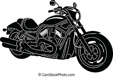 Motorcycle-10 - illustration of great Detailed Motorcycle...