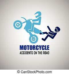 Motorcycle accidents icons