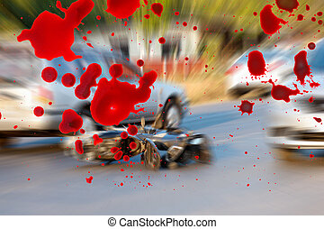 Motorcycle accidents on the road