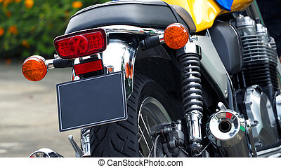 Motorcycle bigbike break and turn signal light and engine ...