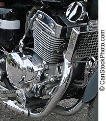 Motorcycle chrome engine design background