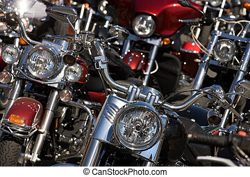 Motorcycle - Closeup of motorcycles