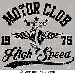 Motorcycle club emblem graphic design