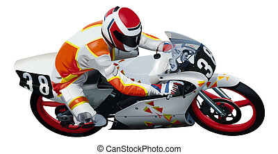 Motorcycle - Colored Illustration, Vector