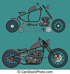 Motorcycle custom parts creator