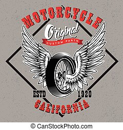 Motorcycle Custom Parts Emblem