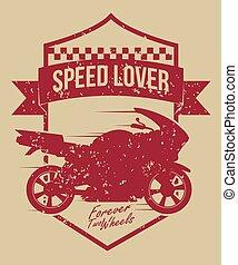 Motorcycle design. - Motorcycle design over beige...