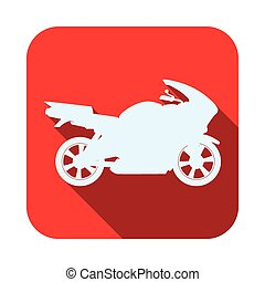 Motorcycle design. - Motorcycle design over white...