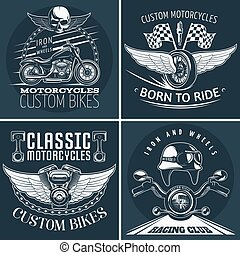 Motorcycle Detailed Emblem Set