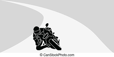 motorcycle driver vector illustration
