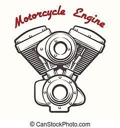 Motorcycle Engine Emblem