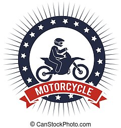 motorcycle extreme sport banner design