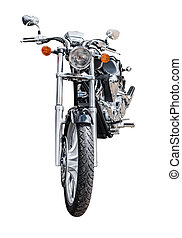 Motorcycle front view isolated
