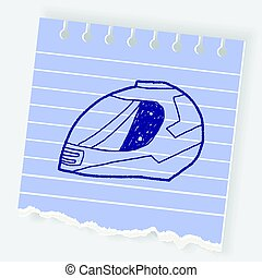 motorcycle helmet doodle