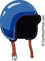 Motorcycle helmet icon, cartoon style