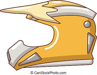 Motorcycle helmet icon, cartoon style