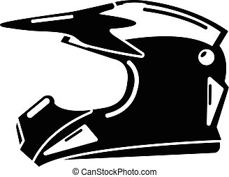 Motorcycle helmet icon, simple black style