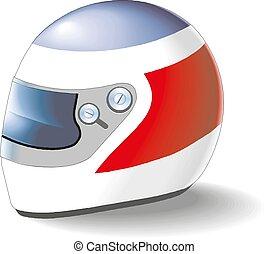 Motorcycle helmet on a white background vector illustration eps 10