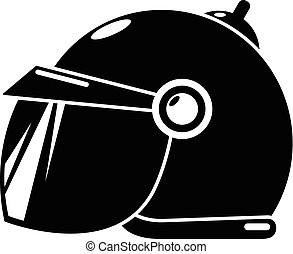 Motorcycle helmet scooter icon, simple black style