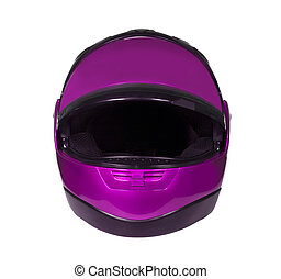 Motorcycle helmet with visor - Motorcycle Helmet isolated on...
