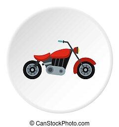 Motorcycle icon circle