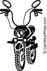 Motorcycle icon, simple style