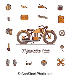 motorcycle icon vector, solid logo illustration, isolated on...