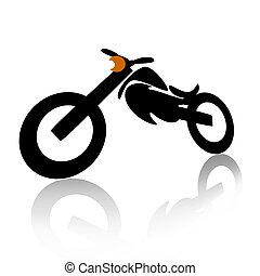 Motorcycle illustration over white background