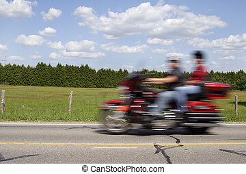 Motorcycle in motion