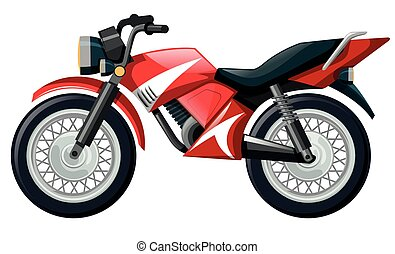 Motorcycle in red color