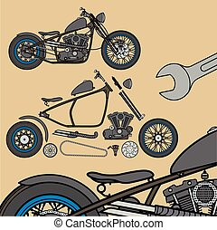 Motorcycle infografic