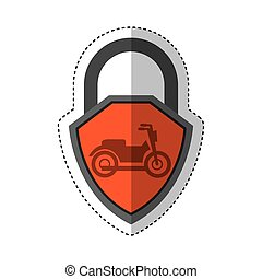 motorcycle insurance isolated icon